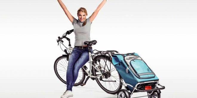 Einkaufsroller 660x330 - Einkaufsroller lässt sich einfach ans Fahrrad hängen